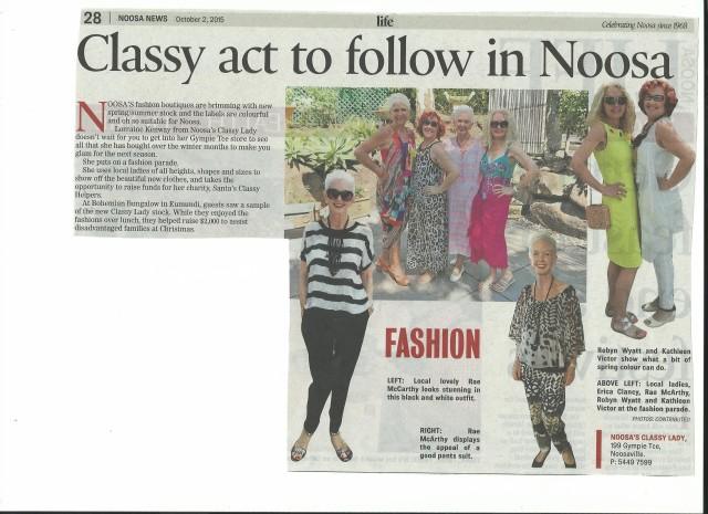 2015 10 02 Noosa News Fashion Parade Noosa Classy Lady